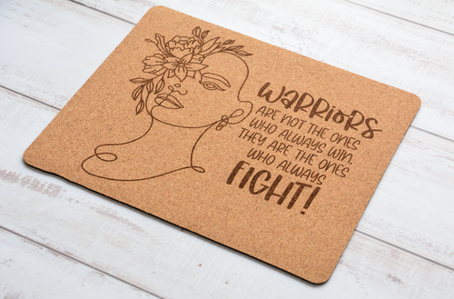 CORK MOUSEPADS ENGRAVED