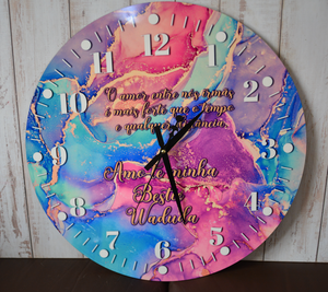 PRINTED WOODEN CLOCKS