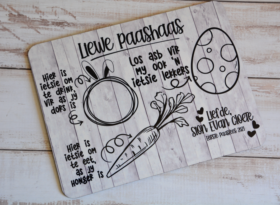 WOODEN PRINTED MESSAGE BORD