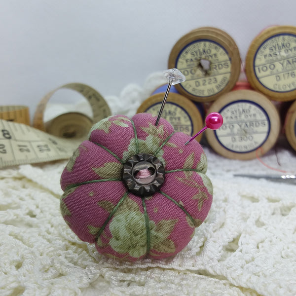 Vintage Rose, Pumpkin Pincushion Ring
