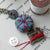 mini pincushion sewing necklace with singer machine charm