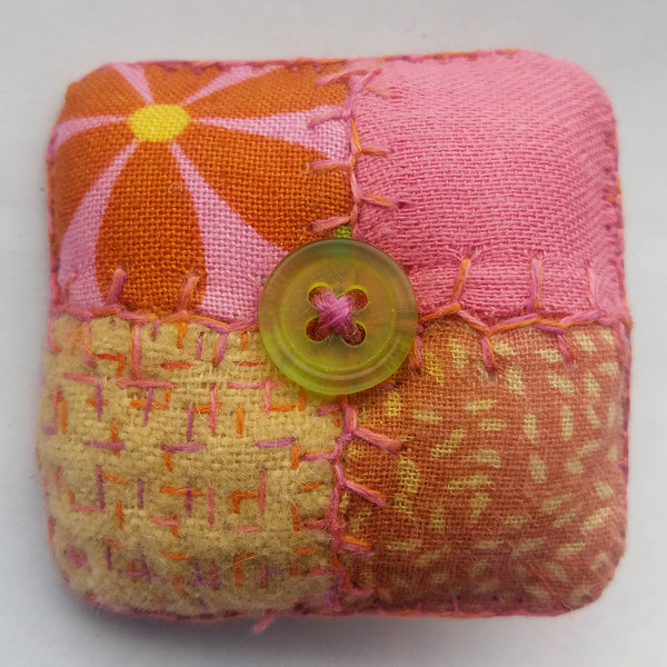 Patchwork Square Padded Brooch.