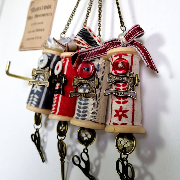 Sew Festive Spool Ornaments