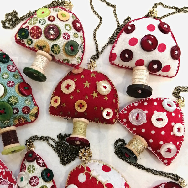 Toadstool Christmas Ornaments   ***BUY 4 GET ONE FREE***