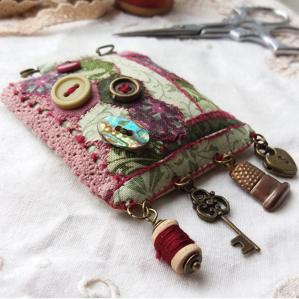 Hand Sewn Patchwork Statement Brooch