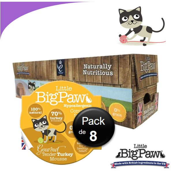 Little Big Paw Chat 85g Dinde - Carton