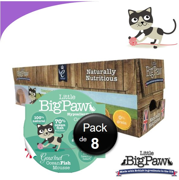 Little Big Paw Chat 85g Poissons - Carton
