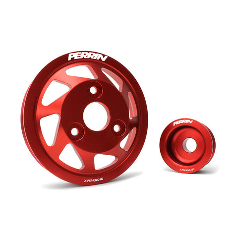 F-PER-PSP-ENG-120RD - PERRIN - Lightweight Accessory Pulley Kit - Red (13-15 BRZ / 13-15 FR-S)