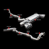 F-XFO-ES-SW09-NC - XForce - Varex Turbo Back Exhaust - Hatchback (11-14 WRX / 08-14 STi)
