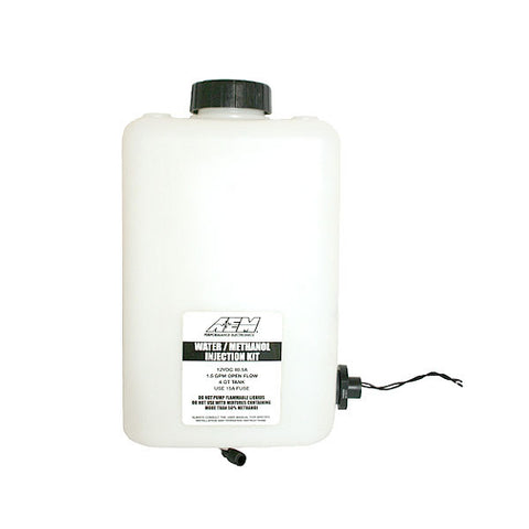 F-AEM-30-3321 - AEM - Water/Methanol Injection Tank V2 WITH Conductive Fluid Level Sensor - 1 Gallon