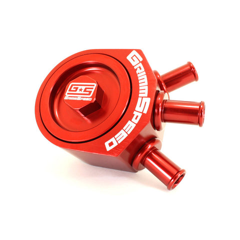 F-GRM-078006R - GrimmSpeed - Air/Oil Separator - Red (inc 02-07 WRX / 04-16 STi)