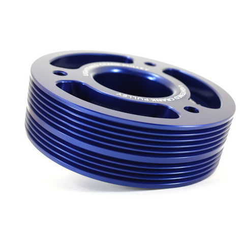 095015B - GrimmSpeed - Lightweight Pulley - Blue (inc. 02-14 WRX / 04-15 STI)
