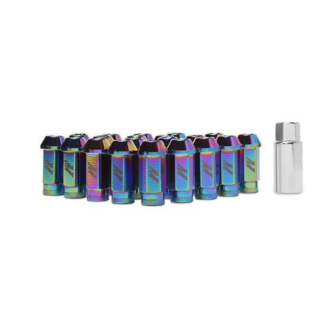 F-MIS-MMLG-125-LOCKNC - Mishimoto - Aluminum Locking Lug Nuts - Neo Chrome 12 X 1.25