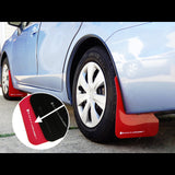 F-RAR-MF22-UR-RD/WH - Rally Armor - UR Mudflaps Red / White Logo - Sedan/Hatch (12-16 Impreza)