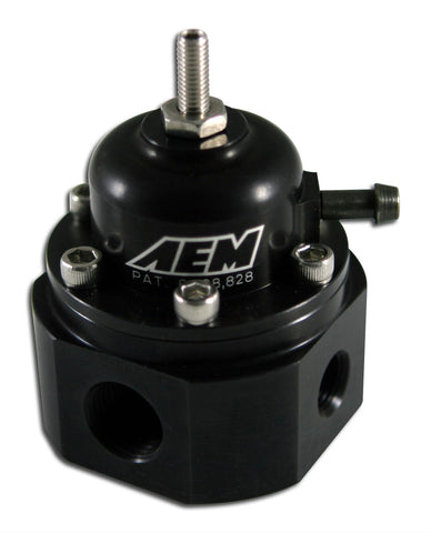 AEM - Adjustable Fuel Pressure Regulator Black - Universal
