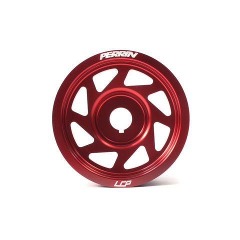 F-PER-PSP-ENG-100RD - PERRIN - Crank Pulley - Red (incl. 02-14 WRX / 02-15 STi)