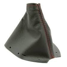JPM Coachworks - Shift Boot Black Leather Red Stitching - 6MT (15+ STi)