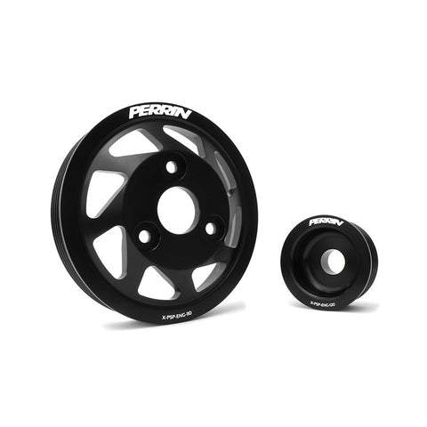 F-PER-PSP-ENG-120BK - PERRIN - Lightweight Accessory Pulley Kit - Black (13-15 BRZ / 13-15 FR-S)
