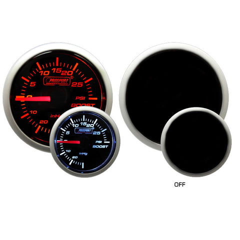 Prosport - 52mm Mechanical Boost gauge - Amber / White