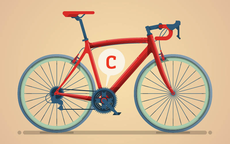 "C stands for ""crankshaft"" and ""chain"" - Keep your mechanical bike parts in good shape"