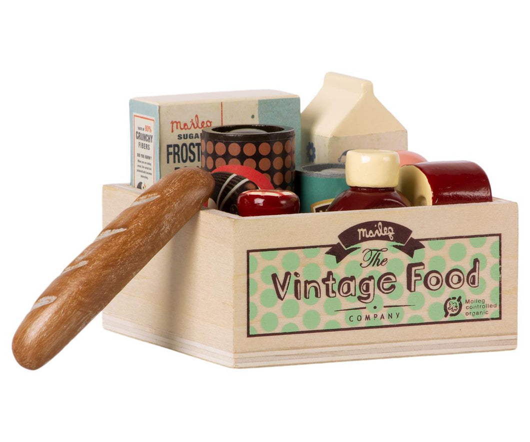 MAILEG VINTAGE FOOD, GROCERY BOX