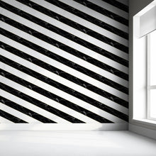 Diagonal Marble Wallpaper - Black And White