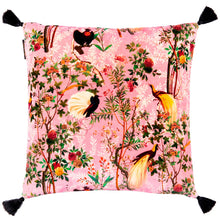 Royal Pink Garden Velvet Cushion