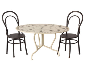 Maileg Dining Table Set Mini - Anthracite