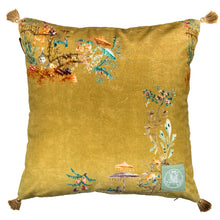 Chinoiserie Velvet Cushion