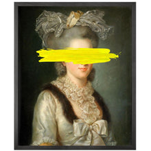 Yellow Marked Portrait Framed Printed Canvas - Mineheart