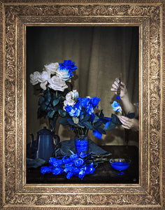 Still Life Canvas Print Blue