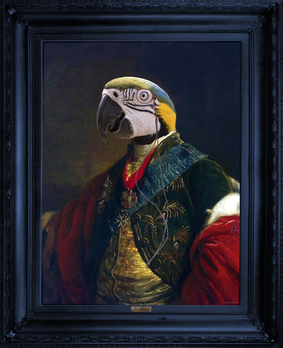 'Cousin Parker' - Ornate Framed Canvas Print