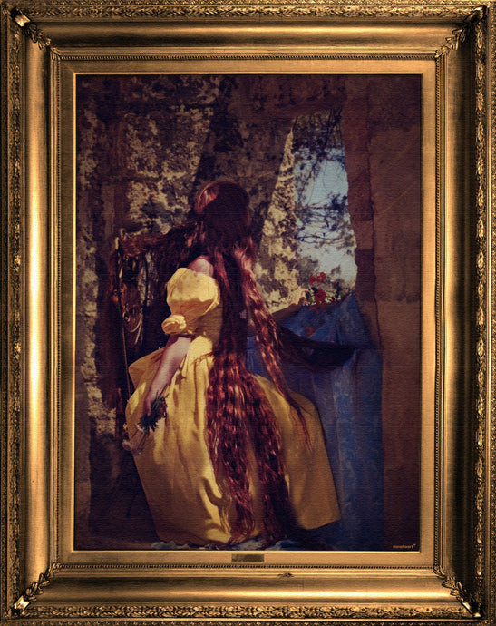 'Rapunzel' - Ornate Framed Canvas Print