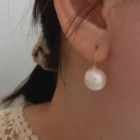 Song Pearl Drop Earrings - Gold