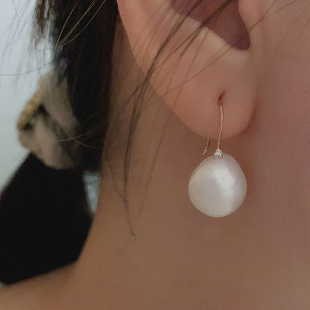 Song Pearl Drop Earrings - Rose Gold