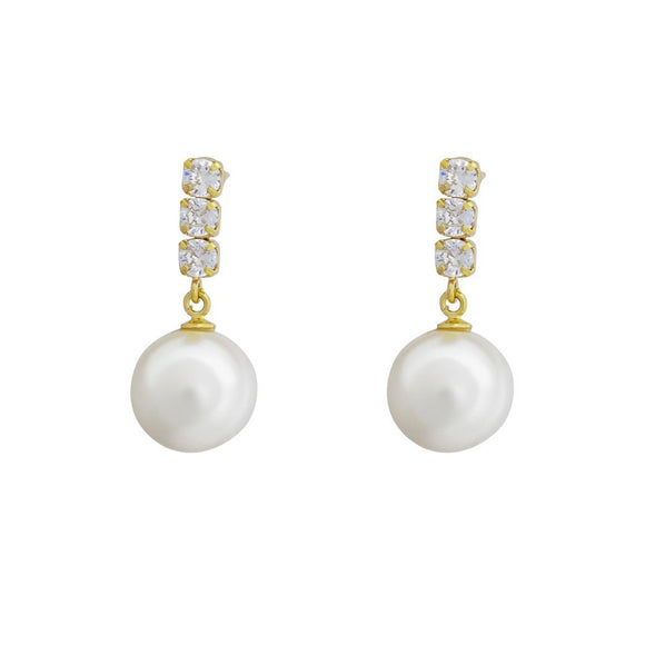 Grace Pearl Earrings - Gold