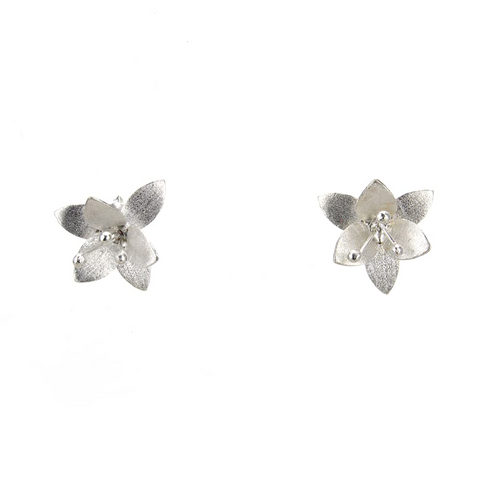 Amaryllis Ear Studs, Earrings - Blaack Fox