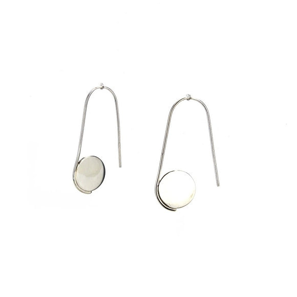 Circle Pull Through Hoop Earrings
