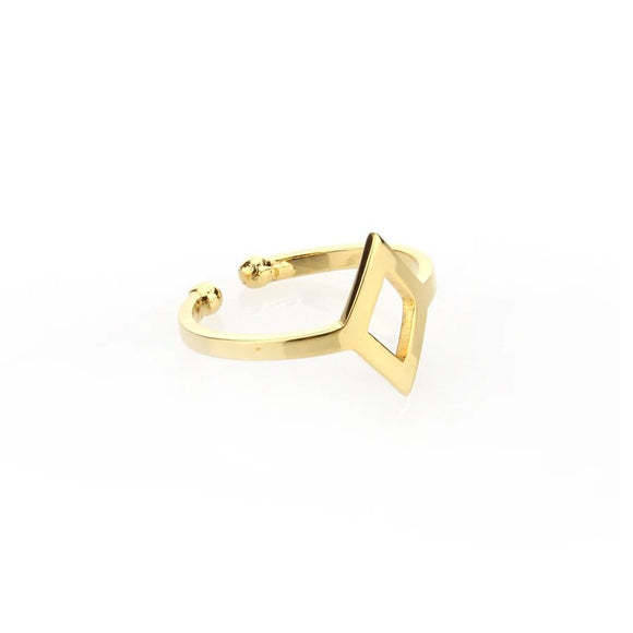 Diamond Cut-out Ring - Gold