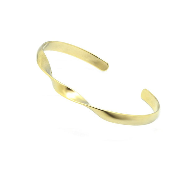 Double Twist Matte Bangle - Gold, Bracelet - Blaack Fox