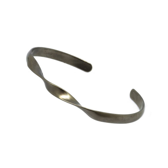 Double Twist Matte Bangle - Grey