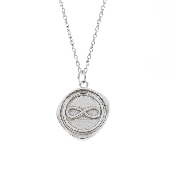 Infinity Seal Stamp Necklace