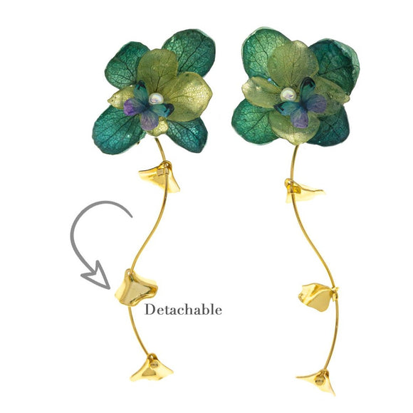 Romance Earrings - Moss