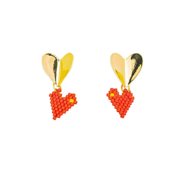 Love Bead Drop Earrings