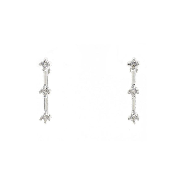 Crystal Bar Ear Studs