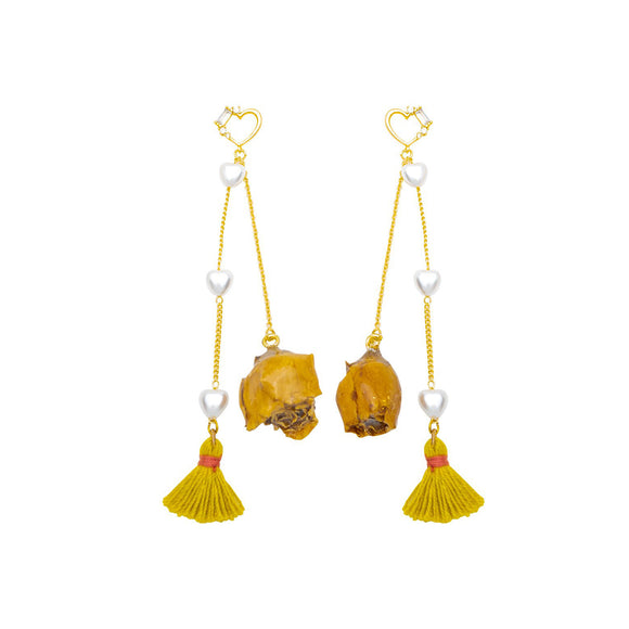 Love Rose Dangling Earrings