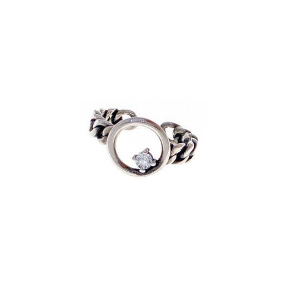 Emory Open Circle Chain Adjustable Ring