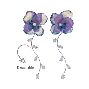 Romance Earrings - Indigo