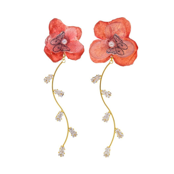 Romance Earrings - Cherry