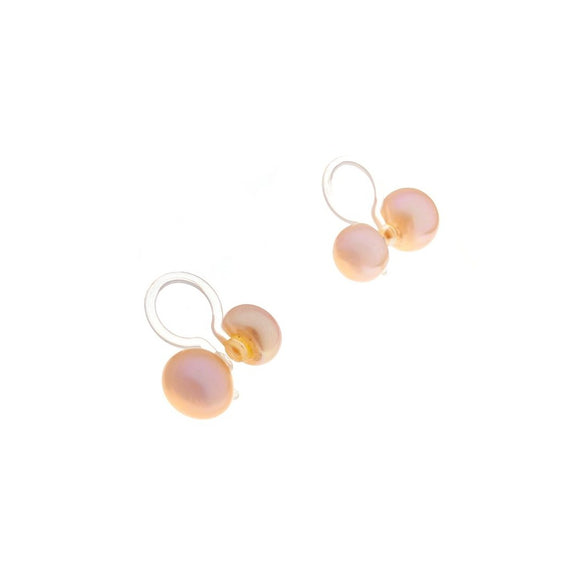 Clip-on Double Pearl - Peach
